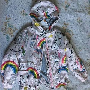 Girls Rainbow Rain Jacket